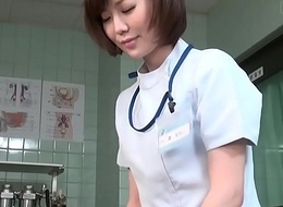 Subtitled CFNM Japanese female doctor gives what really happened handjob
