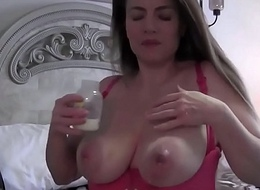 Chubby tits well-spoken pregnant milf lactating boobs milking tits