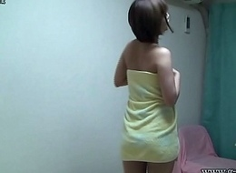 Japanese Legal age teenager Takes a Shower plus Changes to Nightie