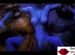 Gameplay - Warcraft orcs tribe punish elf w boobs【FREEHGAME.COM】