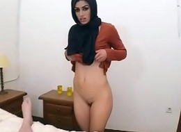 Masked Arab Legal age teenager babe Ridin Unaffected by Dat Dick Limbs Latitude Wid