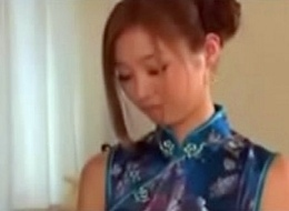 Satin Silk Chinese-Dress thing embrace plus facial cumshot