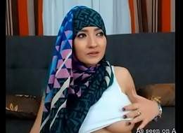 Busty Arab girlfriend exhibitionism say no to fat tits